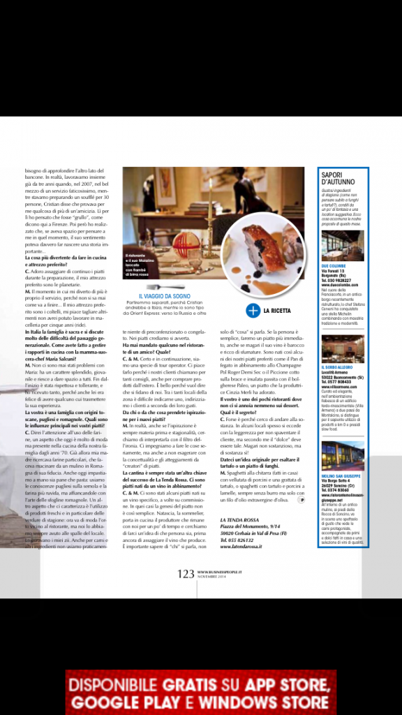 business people tenda rossa nov 2014 pag 122