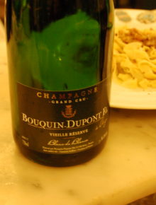 Champagne Bouquin Dupont Vielle Reserve Grand Cru Avize 100% Chardonnay